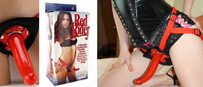The steamy hot Red Rider strapon