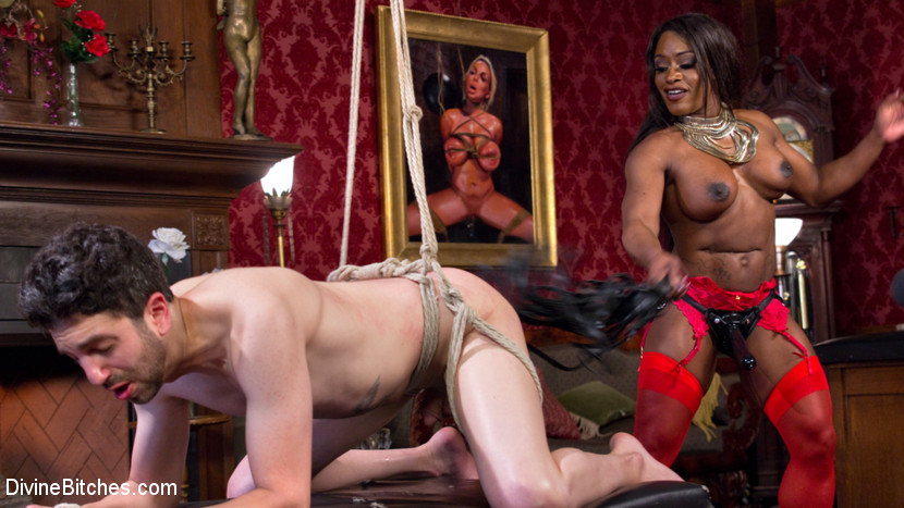 Pegging by Hot Muscular Domme